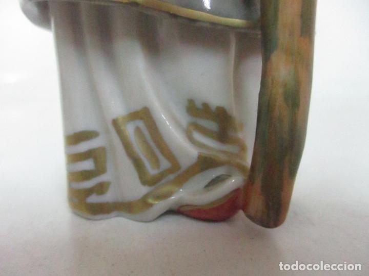 Antigüedades: Curiosas 7 Figuras Orientales - Inmortales - China - Porcelana - Sello Algora - Foto 64 - 166748922