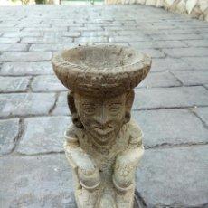 Antigüedades: FIGURA REALIZADA EN PIEDRA. Lote 166757038