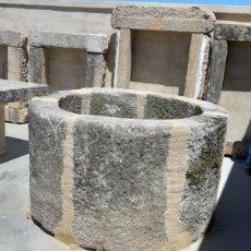 Antigüedades: ANTIGUO BROCAL DE POZO EM PIEDRA DE GRANITO. IDEAL FUENTE CENTRAL. Lote 166764130