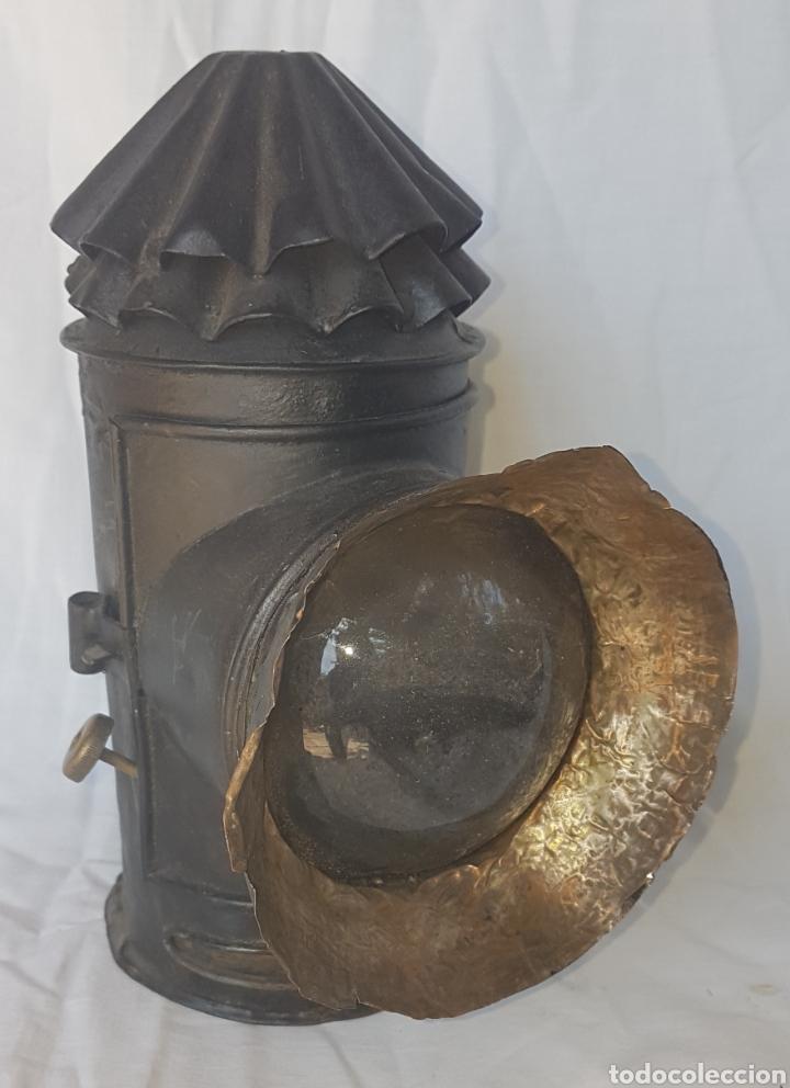 ANTIGUO FAROL CARRO (Antigüedades - Iluminación - Faroles Antiguos)