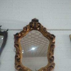Antigüedades: ESPEJO TALLA DORADA PAN DE ORO MADERA. Lote 166767297