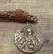 Antigüedades: MAGNIFICA MEDALLA DEL CORAZON DE MARIA, REVERSO SAN ANTONIO MARIA CLARET,40MM DIAMETRO. Lote 166769414