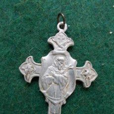 Antigüedades: MEDALLA ANTIGUA RELIGIOSA CRUZ. Lote 166773986