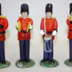 Antigüedades: CONJUNTO DE 4 MUSICOS (ORQUESTA) EN CRISTAL DE BOHEMIA (CHECOSLOVAQUIA). MUY ORIGINALES. Lote 166788646