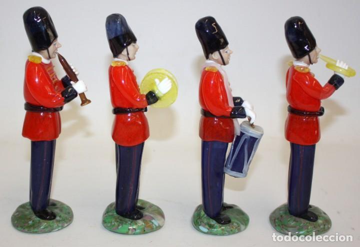 Antigüedades: CONJUNTO DE 4 MUSICOS (ORQUESTA) EN CRISTAL DE BOHEMIA (CHECOSLOVAQUIA). MUY ORIGINALES - Foto 2 - 166788646