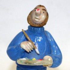 Antigüedades: FIGURA DE UN PINTOR EN CRISTAL DE BOHEMIA (CHECOSLOVAQUIA). MUY ORIGINAL. Lote 166791210