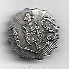 Antigüedades: ANTIGUA INSIGNIA DE SOLAPA PLATEADA DIAMETRO 23 MM.. Lote 166808306