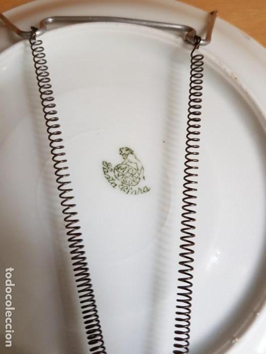 Antigüedades: ANTIGUO PLATO DECORADO - PORCELANA SANTA CLARA - Foto 2 - 166812894