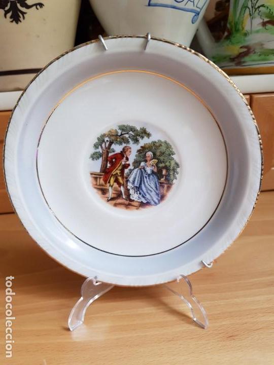 ANTIGUO PLATO DECORADO - PORCELANA SANTA CLARA (Antigüedades - Porcelanas y Cerámicas - Santa Clara)