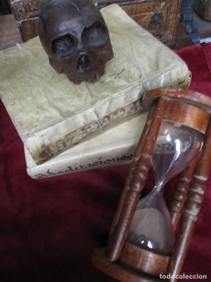Antigüedades: RARO RELOJ DE ARENA. S.XVIII o XIX. EN PERFECTO ESTADO. 17 CM DE ALTO Y 8,5 CM DE DIAMETRO - Foto 5 - 166816198