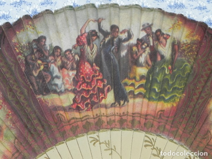 Antigüedades: Vendo Abanico años 50 muy decorativo pintado a mano - Foto 2 - 103379339