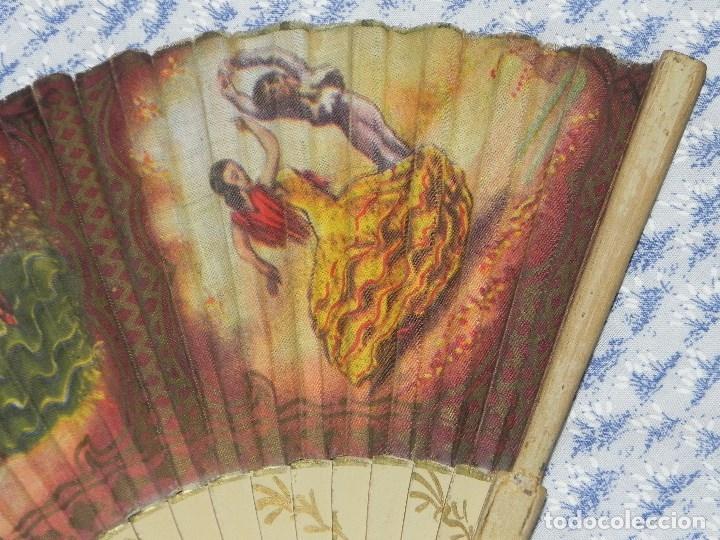 Antigüedades: Vendo Abanico años 50 muy decorativo pintado a mano - Foto 3 - 103379339