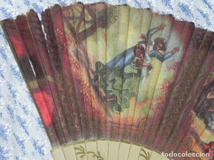 Antigüedades: Vendo Abanico años 50 muy decorativo pintado a mano - Foto 4 - 103379339