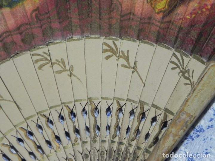 Antigüedades: Vendo Abanico años 50 muy decorativo pintado a mano - Foto 6 - 103379339