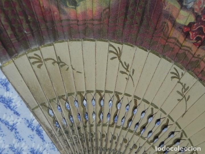 Antigüedades: Vendo Abanico años 50 muy decorativo pintado a mano - Foto 7 - 103379339