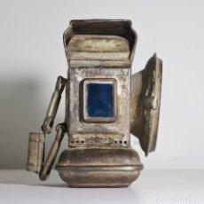 Antigüedades: FARO, FAROL, LAMPARA ANTIGUO DEMON DE BICICLETA O MOTOCICLETA A KEROSENE. Lote 166799478