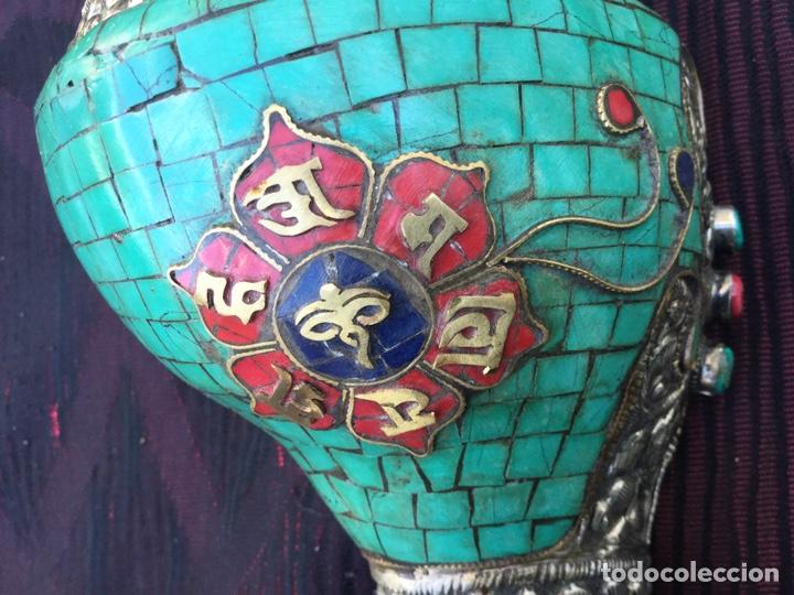 Antigüedades: Caracola tibetana - Foto 3 - 166862914