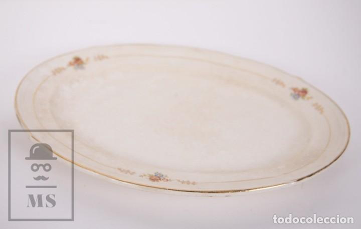 Antigüedades: Conjunto de Sopera, Fuente y Salsera de Loza / San Claudio - Oviedo, Asturias - Motivos Florales - Foto 13 - 166871292