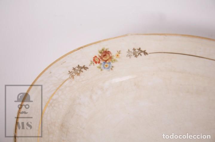 Antigüedades: Conjunto de Sopera, Fuente y Salsera de Loza / San Claudio - Oviedo, Asturias - Motivos Florales - Foto 14 - 166871292