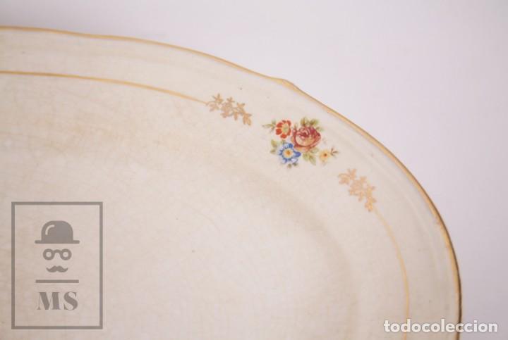 Antigüedades: Conjunto de Sopera, Fuente y Salsera de Loza / San Claudio - Oviedo, Asturias - Motivos Florales - Foto 15 - 166871292