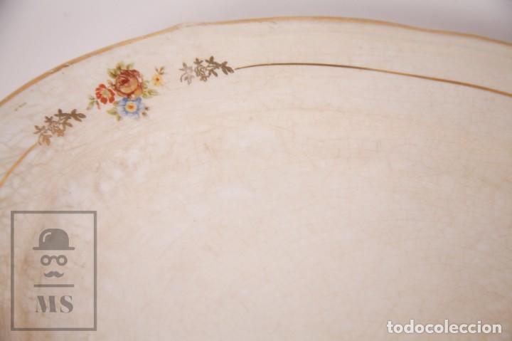 Antigüedades: Conjunto de Sopera, Fuente y Salsera de Loza / San Claudio - Oviedo, Asturias - Motivos Florales - Foto 16 - 166871292