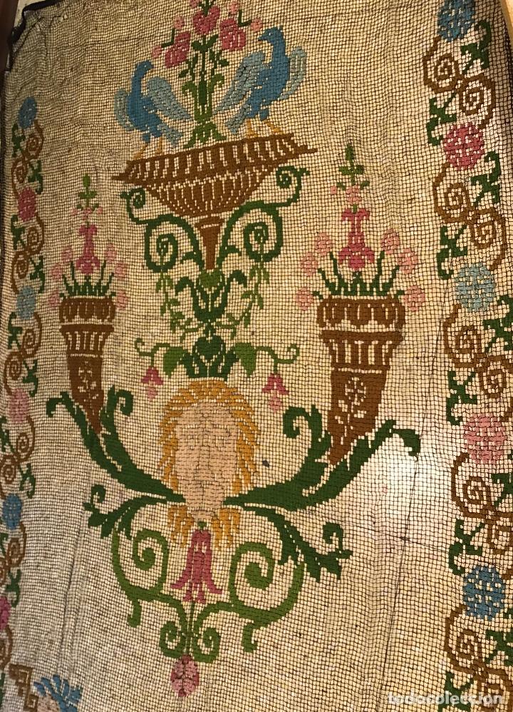 CORTINA S. XIX (Antigüedades - Hogar y Decoración - Cortinas Antiguas)