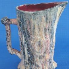 Antigüedades: GRAN JARRA CERAMICA DECORADA TRONCO DE ARBOL. Lote 166876342