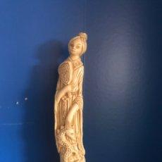 Antigüedades: ANTIGUA FIGURA CHINA DE PASTA. Lote 166876358