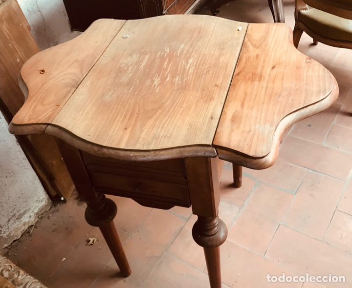 COSTURERO DE CAOBA ,SIGLO XIX. (Antigüedades - Muebles Antiguos - Auxiliares Antiguos)