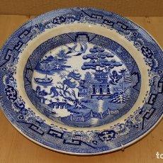 Antigüedades: PLATO INGLES BEECH HANCOCK & CO. - BURSLEM MOTIVOS JAPONESES O CHINOS 24 CENTIMETROS. Lote 166895632