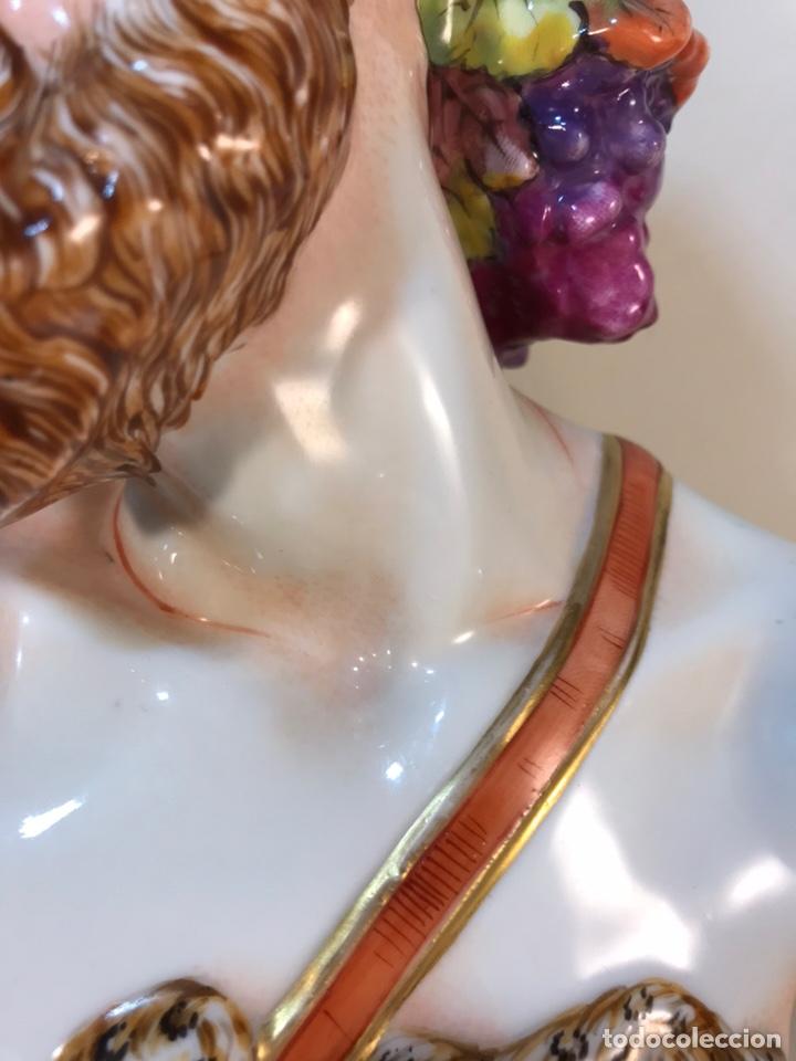Antigüedades: Figura Porcelana-Italia-Nápoles- Busto de Baco/Dioniso- 25 cm. - Foto 5 - 166897238