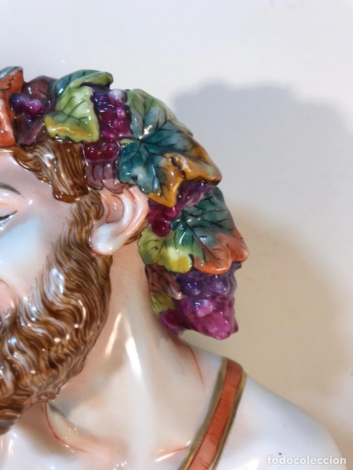 Antigüedades: Figura Porcelana-Italia-Nápoles- Busto de Baco/Dioniso- 25 cm. - Foto 6 - 166897238