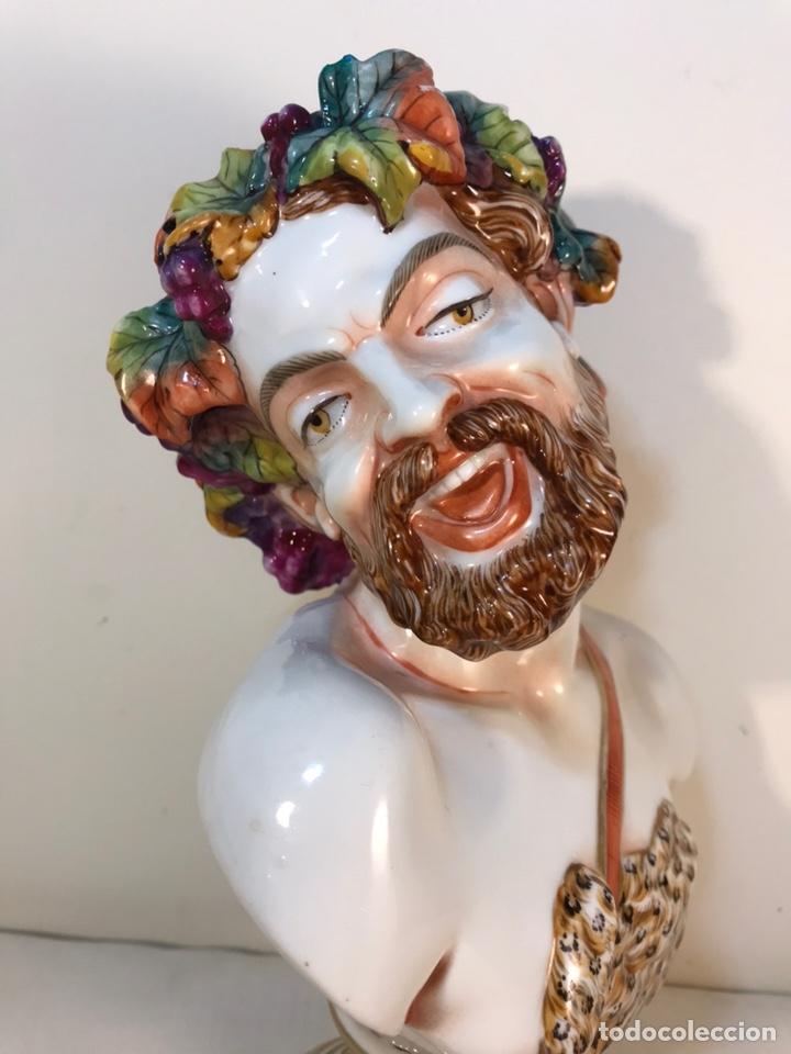 Antigüedades: Figura Porcelana-Italia-Nápoles- Busto de Baco/Dioniso- 25 cm. - Foto 10 - 166897238