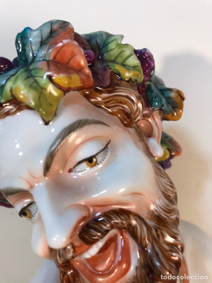 Antigüedades: Figura Porcelana-Italia-Nápoles- Busto de Baco/Dioniso- 25 cm. - Foto 14 - 166897238