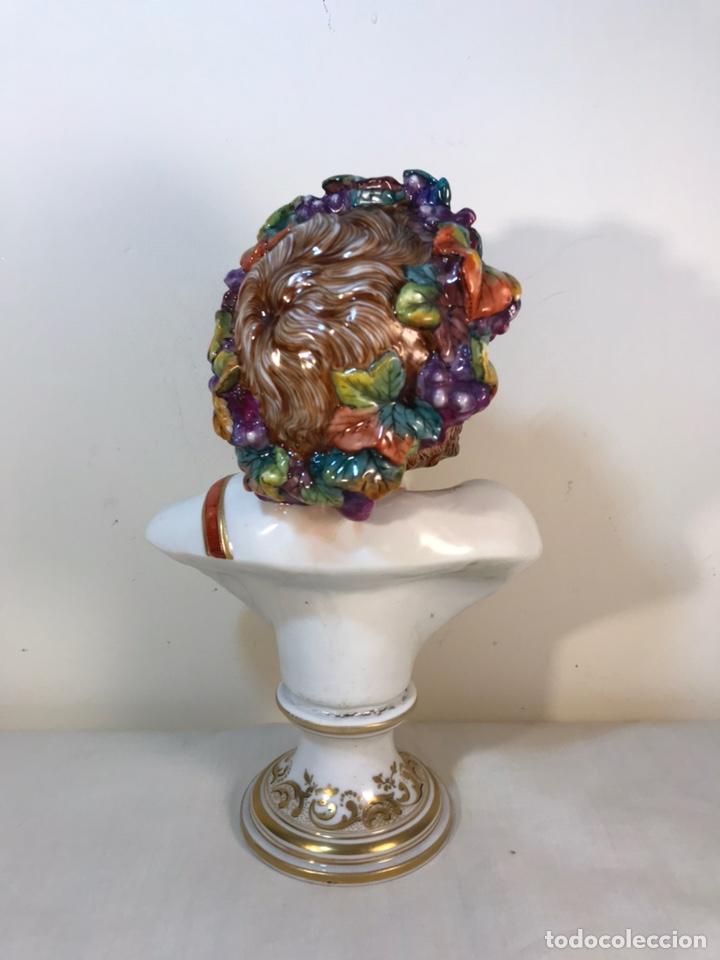 Antigüedades: Figura Porcelana-Italia-Nápoles- Busto de Baco/Dioniso- 25 cm. - Foto 21 - 166897238