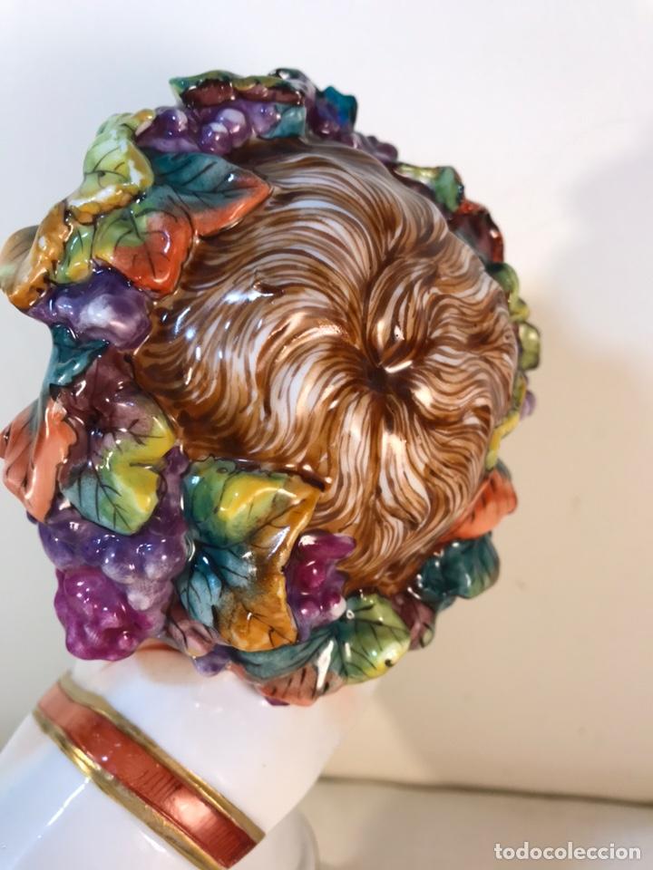 Antigüedades: Figura Porcelana-Italia-Nápoles- Busto de Baco/Dioniso- 25 cm. - Foto 28 - 166897238