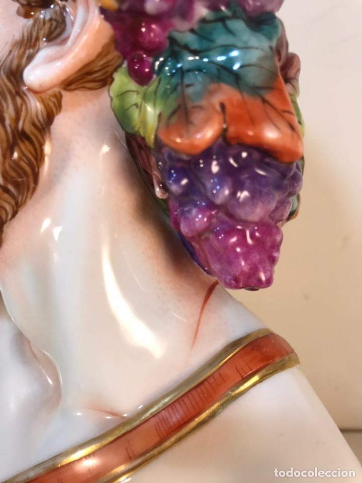 Antigüedades: Figura Porcelana-Italia-Nápoles- Busto de Baco/Dioniso- 25 cm. - Foto 31 - 166897238