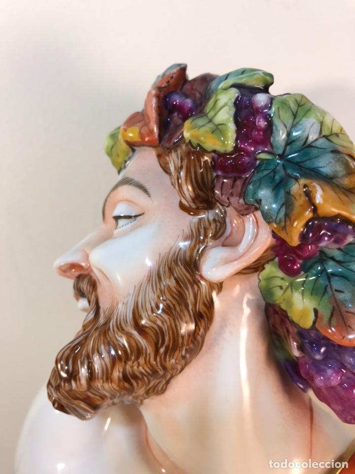 Antigüedades: Figura Porcelana-Italia-Nápoles- Busto de Baco/Dioniso- 25 cm. - Foto 32 - 166897238