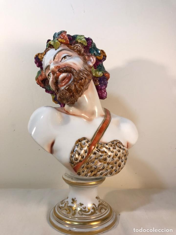 Antigüedades: Figura Porcelana-Italia-Nápoles- Busto de Baco/Dioniso- 25 cm. - Foto 33 - 166897238