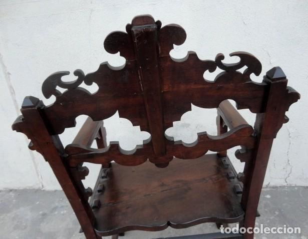 Antigüedades: Sillon antiguo, renacimiento madera de nogal tallada - Foto 11 - 166898488