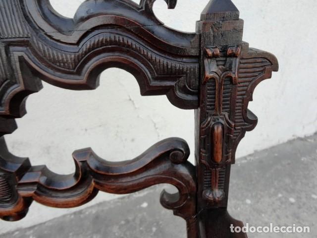 Antigüedades: Sillon antiguo, renacimiento madera de nogal tallada - Foto 2 - 166898488