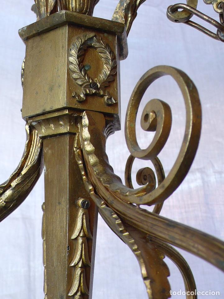 Antigüedades: Lámpara de techo de bronce - Foto 4 - 166899512