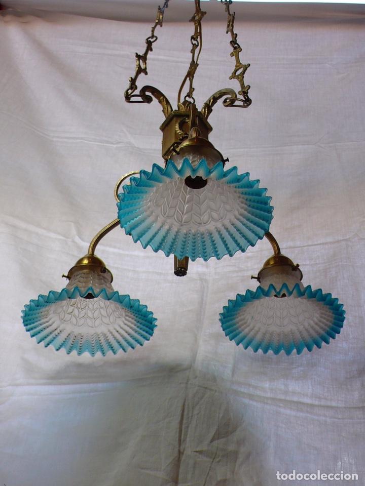 Antigüedades: Lámpara de techo de bronce - Foto 6 - 166899512