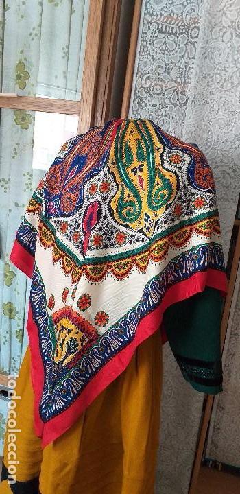 Antigüedades: mantón o pañuelo indumentaria folclore - Foto 2 - 166900140