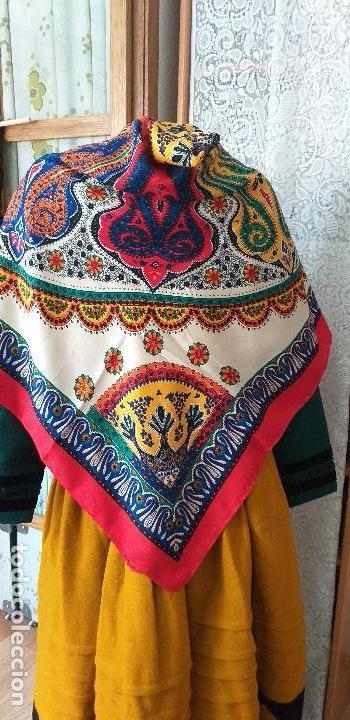 Antigüedades: mantón o pañuelo indumentaria folclore - Foto 3 - 166900140