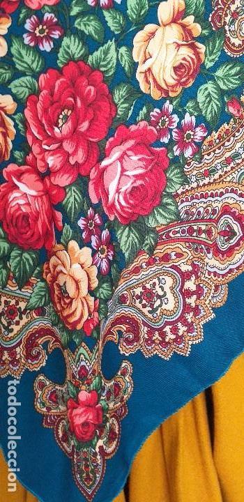 Antigüedades: mantón o pañuelo indumentaria folclore - Foto 3 - 166900640