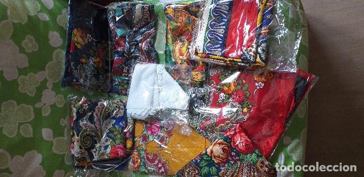 Antigüedades: mantón o pañuelo indumentaria folclore - Foto 4 - 166900640