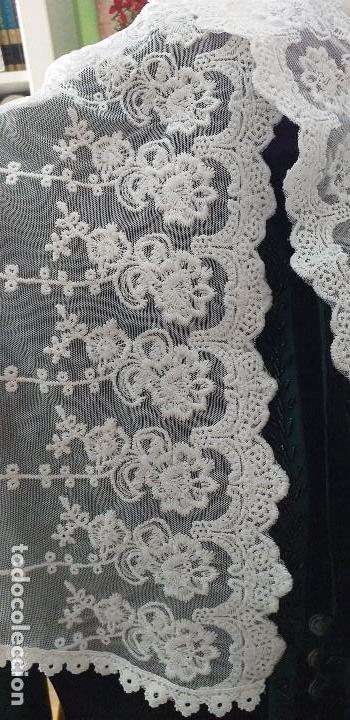 Antigüedades: pañuelo bobiné bordado indumentaria folclore - Foto 3 - 166901388