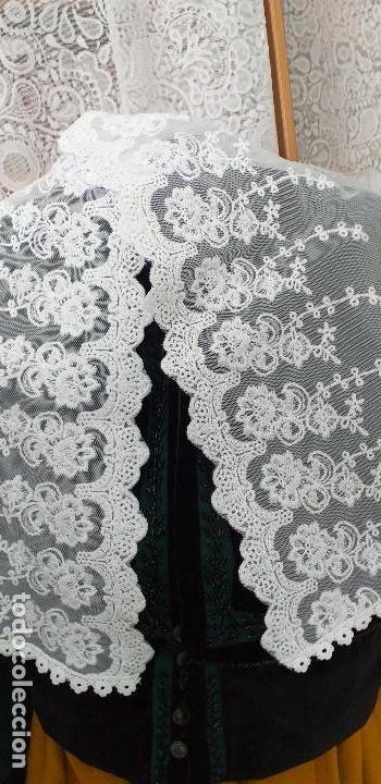 Antigüedades: pañuelo bobiné bordado indumentaria folclore - Foto 4 - 166901388