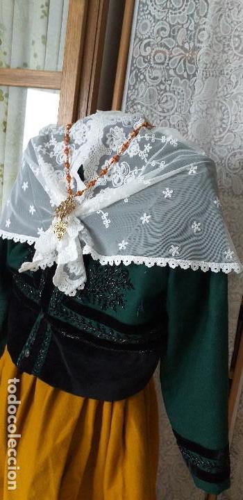 Antigüedades: pañuelo bobiné bordado indumentaria folclore - Foto 5 - 166901388